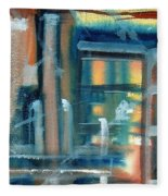 Window Abstract Fleece Blanket