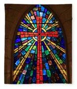 Window At The Little Church In La Villita Fleece Blanket