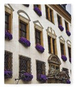 Window Boxes In Germany Fleece Blanket