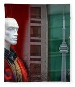 Window Display In Toronto At Christmas Time Fleece Blanket