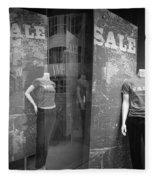Window Display Sale With Mannequins No.1292 Fleece Blanket