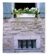 Window Flower Box 2 Fleece Blanket