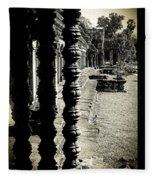 Window In Angkor Wat Fleece Blanket