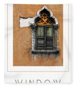 Window In Verona Poster Fleece Blanket