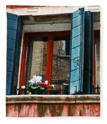 Window Of Venice Fleece Blanket
