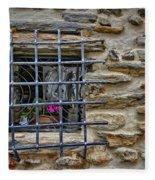 Window Of Vernazza Italy Dsc02629 Fleece Blanket