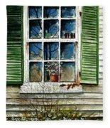 Window Reflections Fleece Blanket