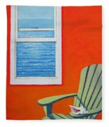 Window To The Sea No. 1 - Seashell Fleece Blanket