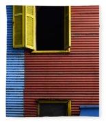 Windows And Doors Buenos Aires 16 Fleece Blanket