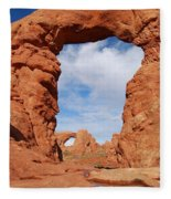 Windows And Turret Arches Fleece Blanket