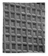 Windows In Black And White Fleece Blanket