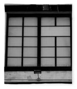 Windows Of Brooklyn In Black And White Fleece Blanket
