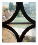Windows Of Venice View From Art Academy Fleece Blanket