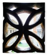 Windows Of Venice View From Palazzo Ducale Fleece Blanket