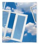 Windows To New World Fleece Blanket