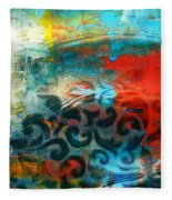 Winds Of Change - Abstract Art Fleece Blanket