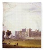 Windsor Castle From The South End Fleece Blanket