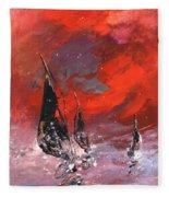 Windsurf Impression 02 Fleece Blanket