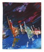 Windsurf Impression 05 Fleece Blanket