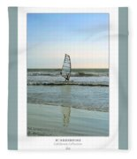 Windsurfing Art Poster - California Collection Fleece Blanket