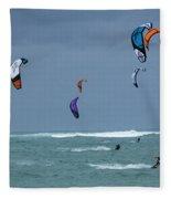 Windsurfing Hawaii Fleece Blanket