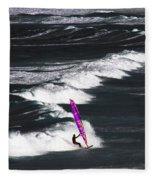 Windsurfing Man Fleece Blanket