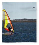 Windsurfing Fleece Blanket