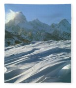 1m9342-windswept Snow Fleece Blanket