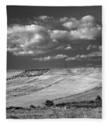 Windy At The Cereal Fields Fleece Blanket