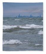 Windy City Skyline Fleece Blanket