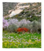 Windy Spring Day Fleece Blanket