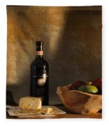 Wine And Cheese 1 Fleece Blanket