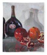 Wine And Pomegranates Fleece Blanket