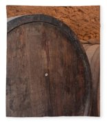 Wine Barrel Fleece Blanket