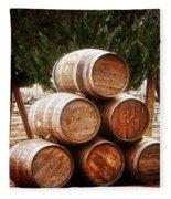 Wine Barrels Fleece Blanket