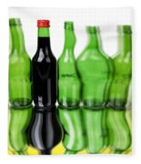 Wine Bottles Fleece Blanket