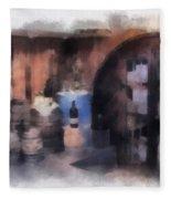 Wine Cellar Photo Art Fleece Blanket
