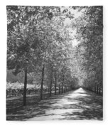 Wine Country Napa Black And White Fleece Blanket