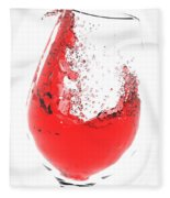 Wine Glass Fleece Blanket