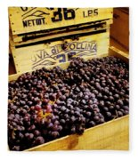 Wine Grapes II Fleece Blanket