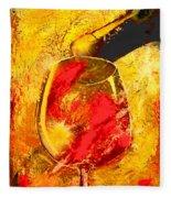 Wine Fleece Blanket