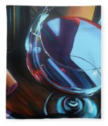 Wine Reflections Fleece Blanket