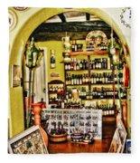 Wine Shop Fleece Blanket