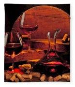 Wine Still Life Fleece Blanket