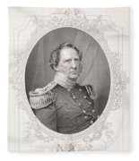 Winfield Scott 1786-1866 From The History Of The United States, Vol. II, By Charles Mackay Fleece Blanket