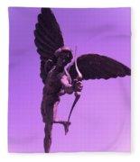 Winged Archer Eros Fleece Blanket