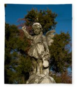 Winged Girl 12 Fleece Blanket
