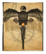 Winged Rider Fleece Blanket