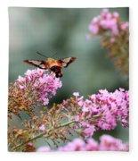 Wings In The Flowers Fleece Blanket