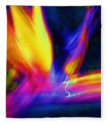 Wings Of Color Abstract  Fleece Blanket